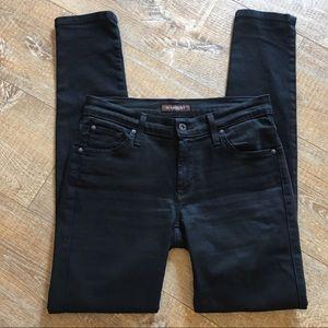 James Jeans Twiggy Skinny Stretch Black Denim 28